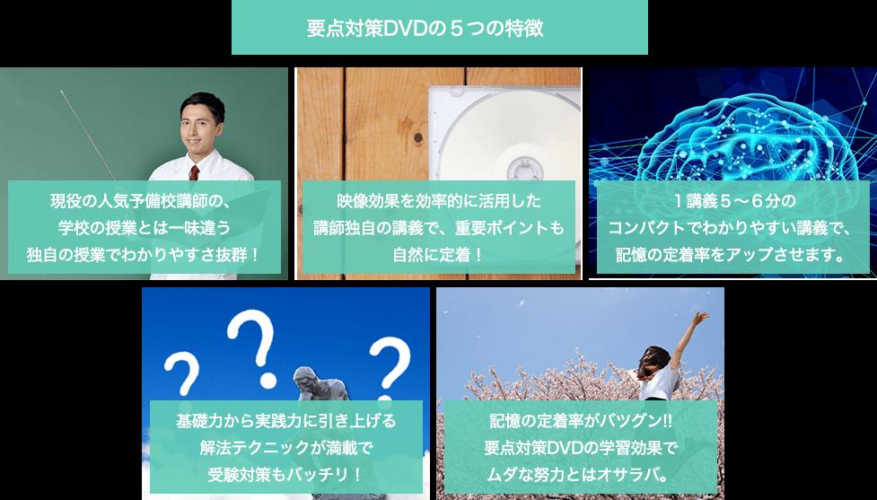 要点対策DVDの5つの特徴